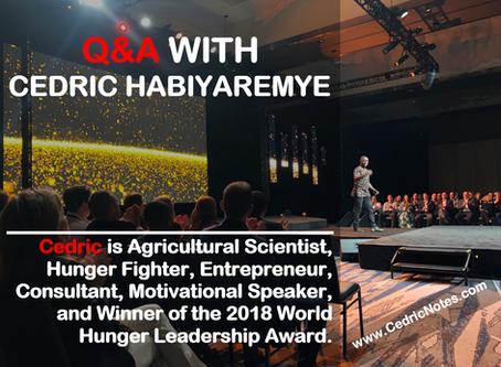 21 Questions with Dr. Cedric Habiyaremye