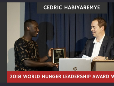 Award winning Rwandan scientist keen to help end hunger in Africa