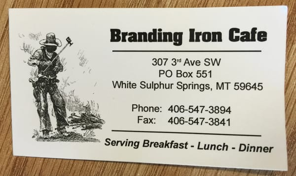Branding Iron Cafe Logo