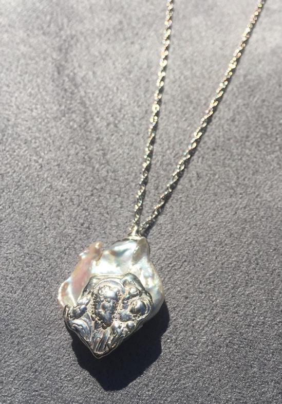 Spearmint Saint Christopher Necklace.jpg