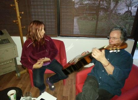 Jeannette Pualuan con Nacho Mena