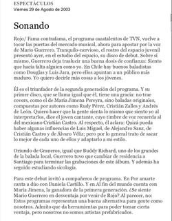 El_Mercurio: Espectáculos