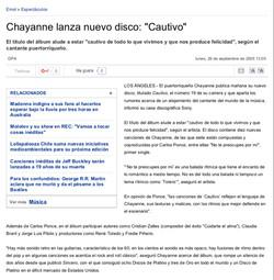 Nuevo disco de Chayanne