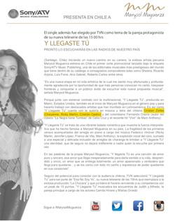 Sony Atv/Marysol Muguerza
