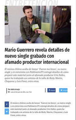 Entrevista Mario Guerrero