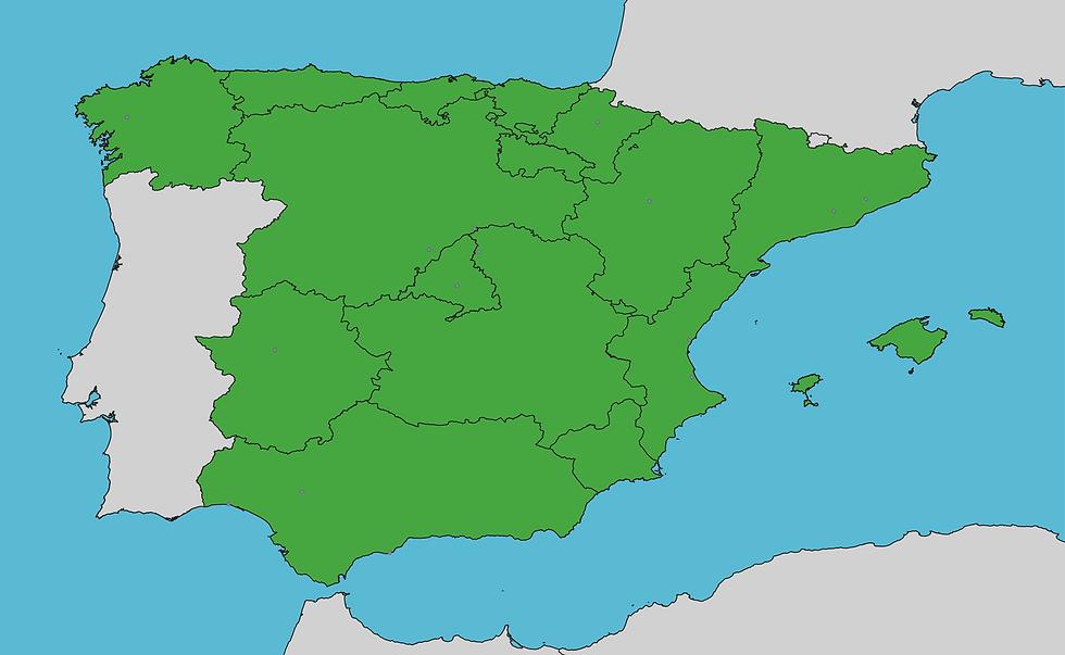 Mapa sedes Chelonia España