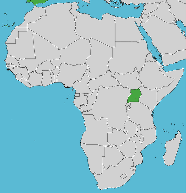 Mapa sedes Chelonia África