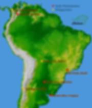 Sedes y delegaciones de Asociación Chelonia en Sudamérica