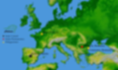 Sedes y delegaciones de Asociación Chelonia en Europa