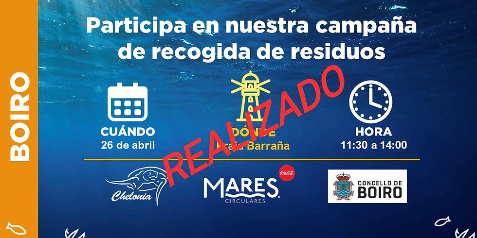 Limpieza de Playa Barraña (Boiro) 2019 (EVENTO YA REALIZADO)