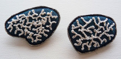Skye Coral brooches