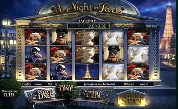 A Night In Paris 3D Online Pokies