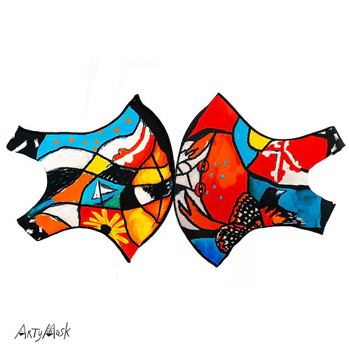 "Arty Mask ""Maryland Stained Glass"""