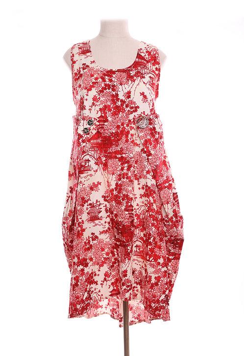 Natsu Dress Red