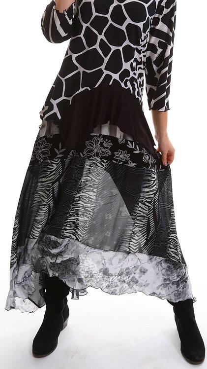 "Veena Skirt ""Black & White"""