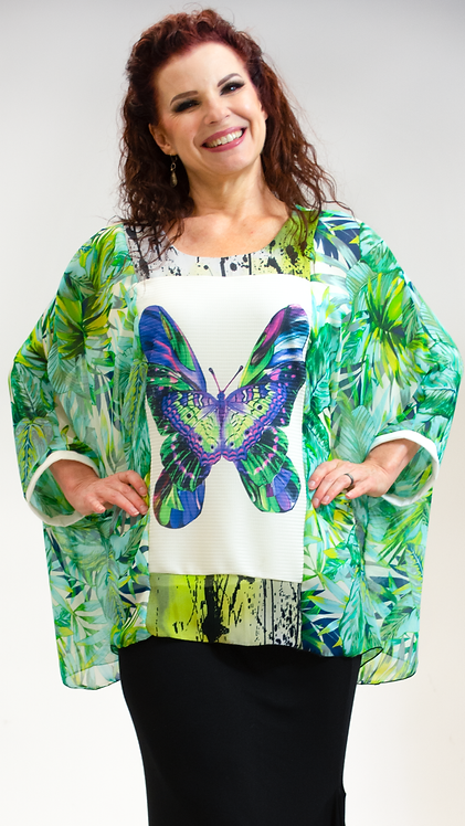 Butterfly Top Green
