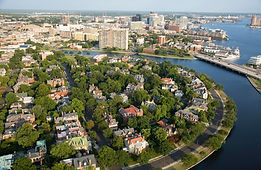 The historic Ghent neighborhood, Norfolk, VA