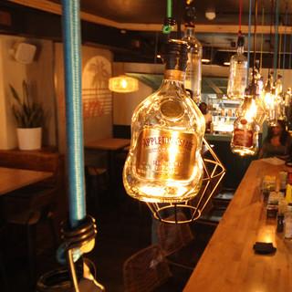 Rum Bottle Lanterns