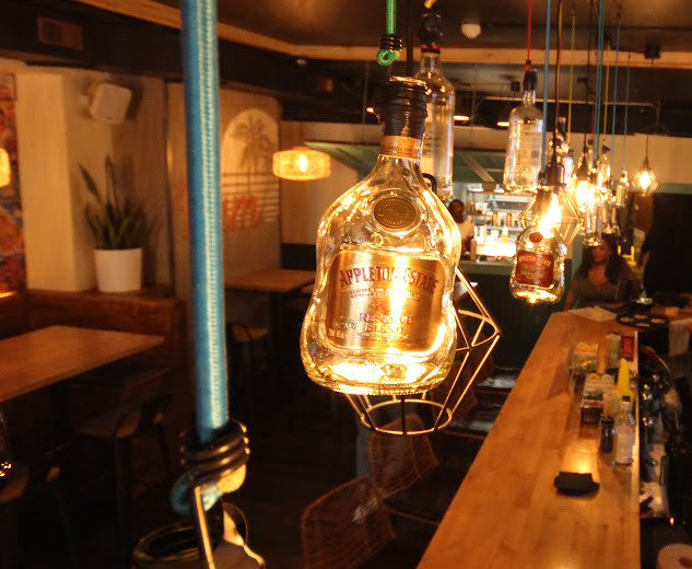 Rum Bottle Lanterns
