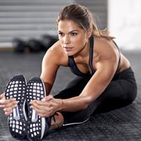 Femme Sportive Stretching