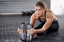 Sporty Woman Stretching