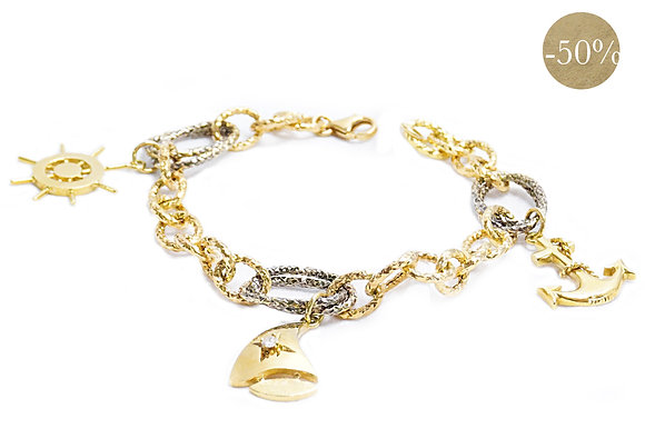 Gold Nautical Charm Bracelet I