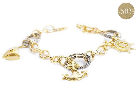 Gold Nautical Charm Bracelet III