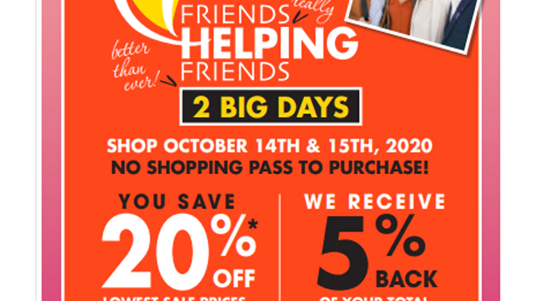 Boscov's Friends Helping Friends Event