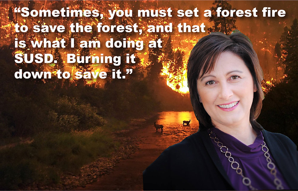 Barbara Perleberg and a Forest Fire