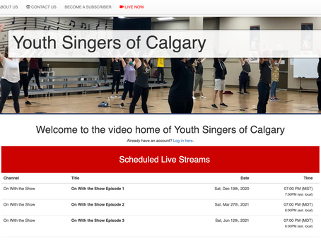 We are happy to welcome the Youth Singers of Calgary to the SBN family.