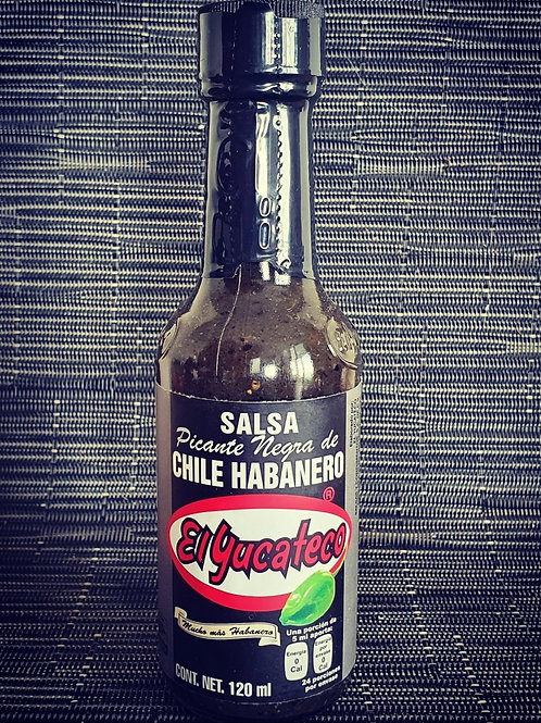 Salsa Negra de Habanero