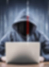 Hacker in front of laptop