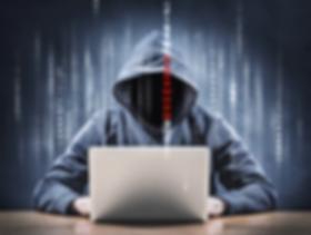 Hacker on laptop