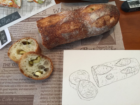 3月のレッスン『レフェクトワールの緑オリーブとチーズのバゲット』
