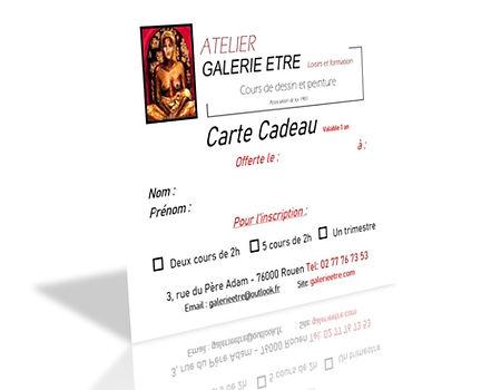 Atelier Galerie Etre Rouen - Cours de dessin et peinture - Carte Cadeau