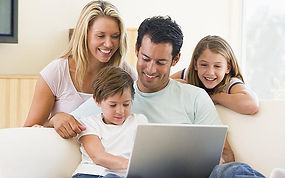 Happy Family enjoying their new internet service provider in Nampa & Boise, ID