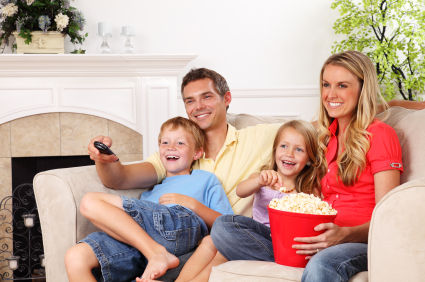 Family enjoying TV services in Caldwell Id, Nampa Id, Boise Id, Twin Falls Id, Idaho Falls Id
