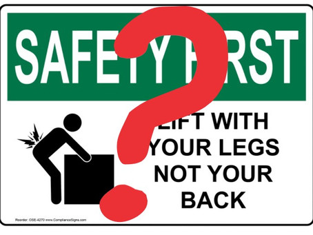 Do you want to reduce the risk of back injury?