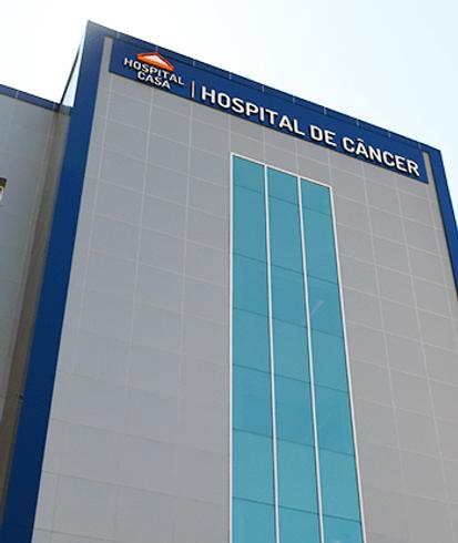 Fachada do Hospital de Câncer