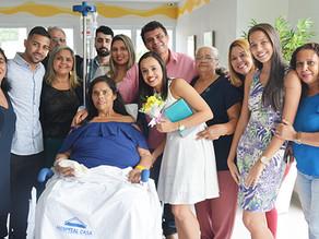 Famílias realizam casamento no Hospital de Câncer
