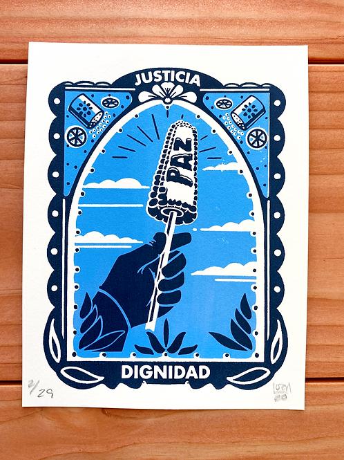 Justicia, Paz, Dignidad Print