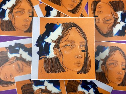 Sleepy Day Dreams Orange Portrait