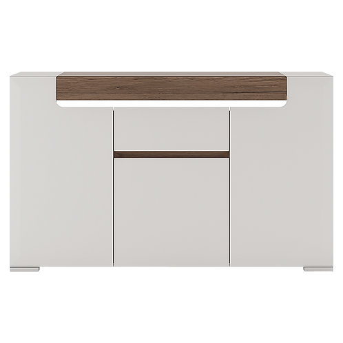 Toronto 3 Door 1 Drawer Sideboard (Inc. Plexi Lighting)