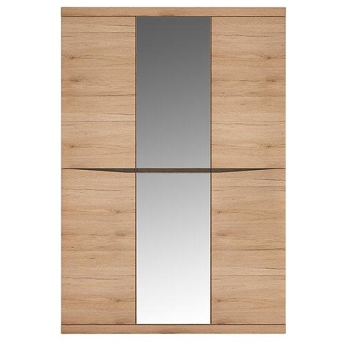 Kensington 3 Door Wardrobe With Centre Mirror Door In Oak