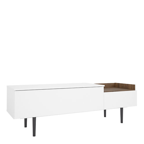 Unit Sideboard 2 Drawers In White And Walnut