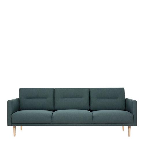 Larvik 3 Seater Sofa - Dark Green, Oak Legs