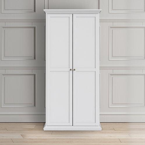 Paris Wardrobe With 2 Doors In White