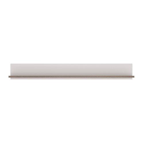 Chelsea Living Wall Shelf In White With An Truffle Oak Trim