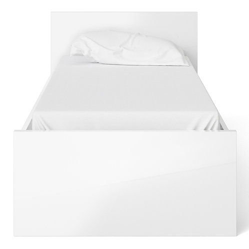 Naia Single Bed (90CM X 190CM) In White High Gloss