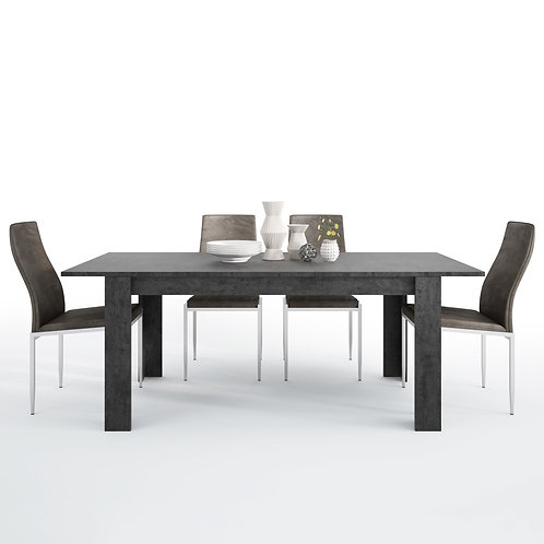 Zingaro With Dining Table And 6 Milan High Back Chairs Dark Brown